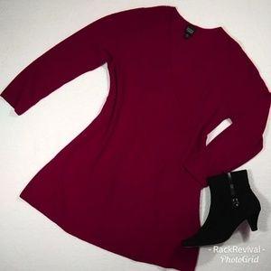 Eileen Fisher Wool Knit Dress w/Long Sleeves